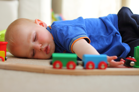We get your carpet and furniture really clean so that your family can enjoy it and even sleep on it like the baby shown.
